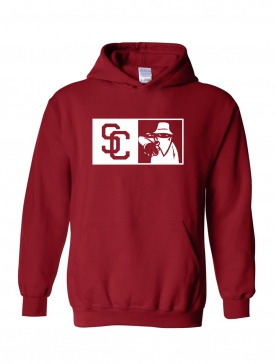 "Sweat Capuche ""New SC"" bordeaux"