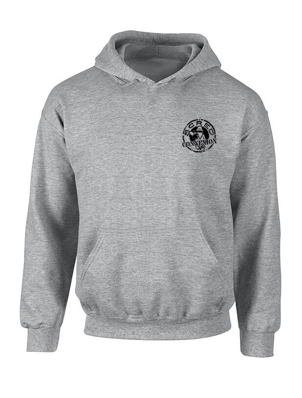 Sweat Capuche Tellement Bas Gris