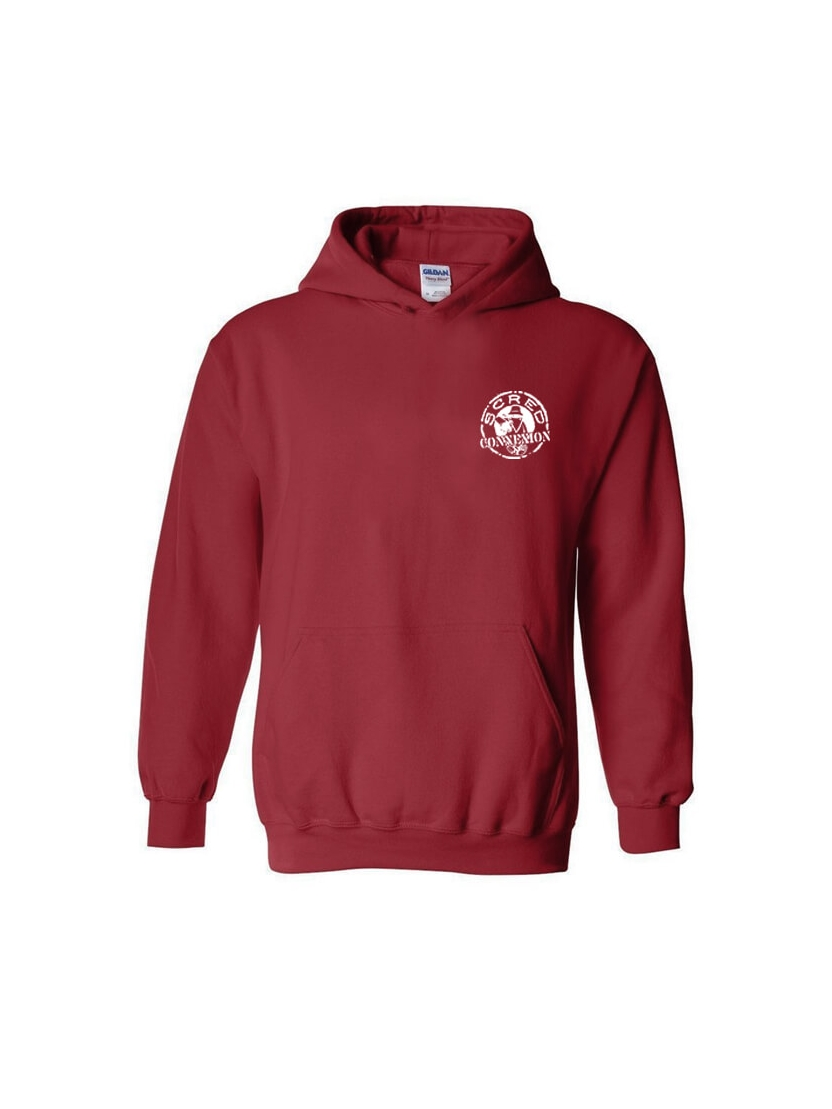 Sweat Capuche Tellement Bas Bordeaux