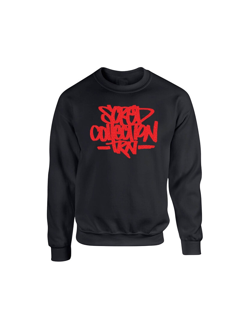 Sweat Col rond Scred Collection TRN impression daim