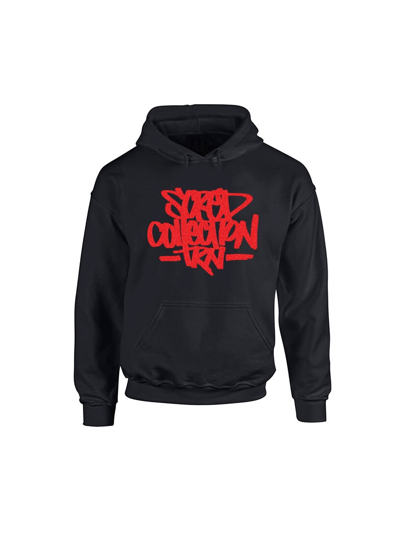 Sweat Capuche Scred Collection TRN impression daim