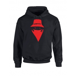 Sweat Capuche Visage impression daim