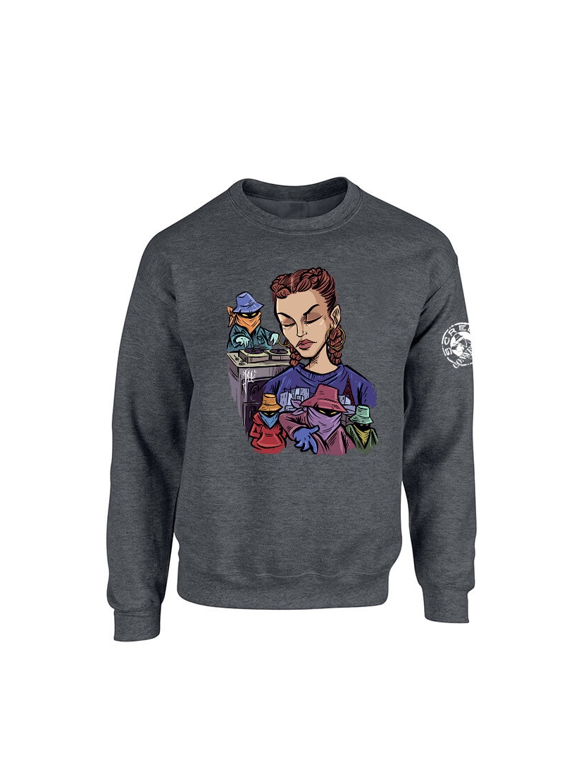 Sweat Fanny Scred Gris foncé
