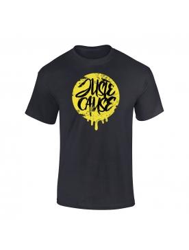 T-Shirt Juste cause Noir Jaune