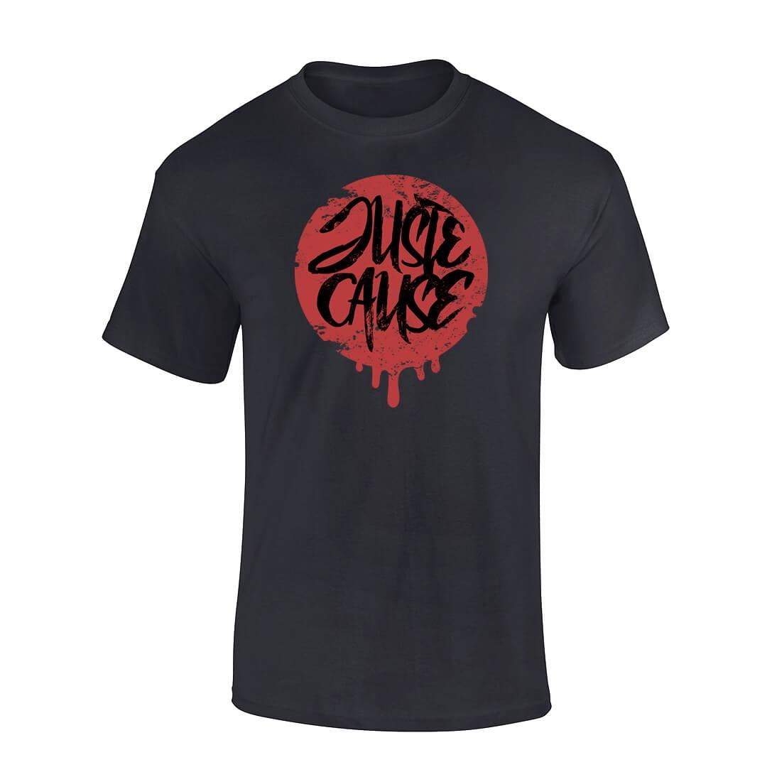 T-Shirt Juste cause Noir Bordeaux