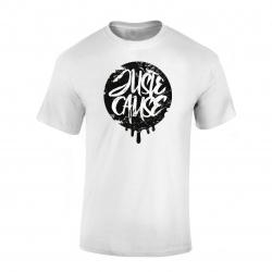 T-Shirt Juste cause Blanc Noir