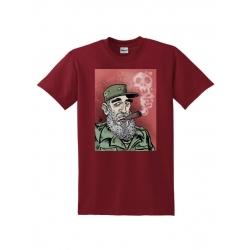 T-Shirt Fidel Castro 01 Bordeaux