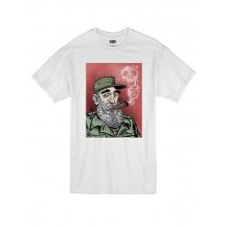 T-Shirt Fidel Castro 01 Blanc