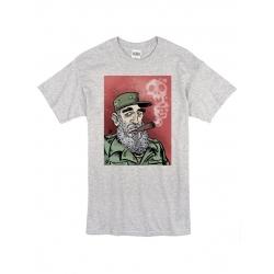 T-Shirt Fidel Castro 01 Gris