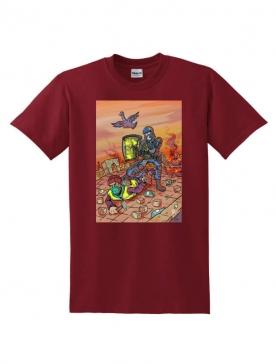T-Shirt Latrache 02 Bordeaux