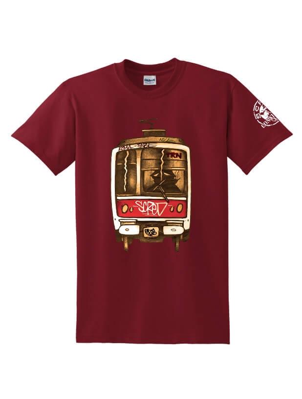 Tee Shirt Metro TRN bordeaux