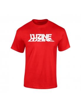 T-Shirt Luzine rouge logo blanc