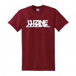 T-Shirt L'uzine bordeaux logo blanc