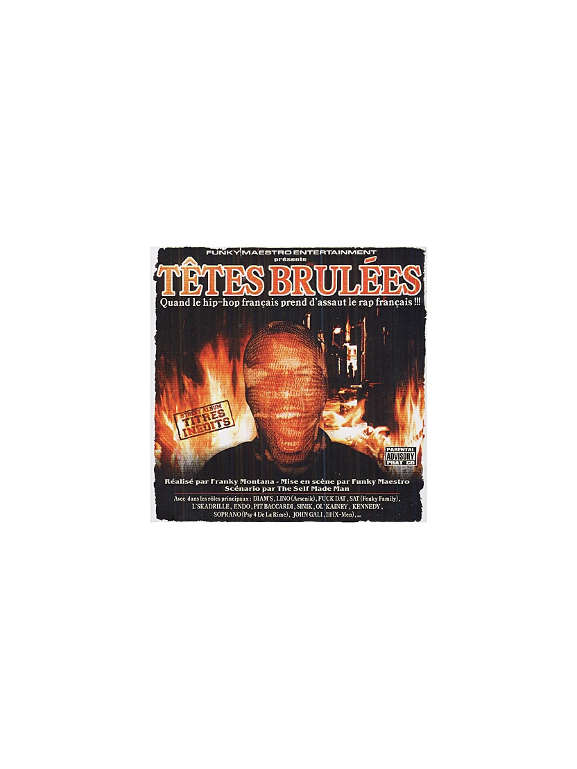 "Album Cd "" Têtes brûlées """