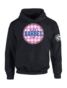 Sweat Capuche Barbes Tati Noir