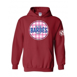 Sweat Capuche Barbes Tati Bordeaux