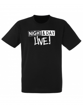 "tee-shirt ""night & day live"" noir logo blanc"