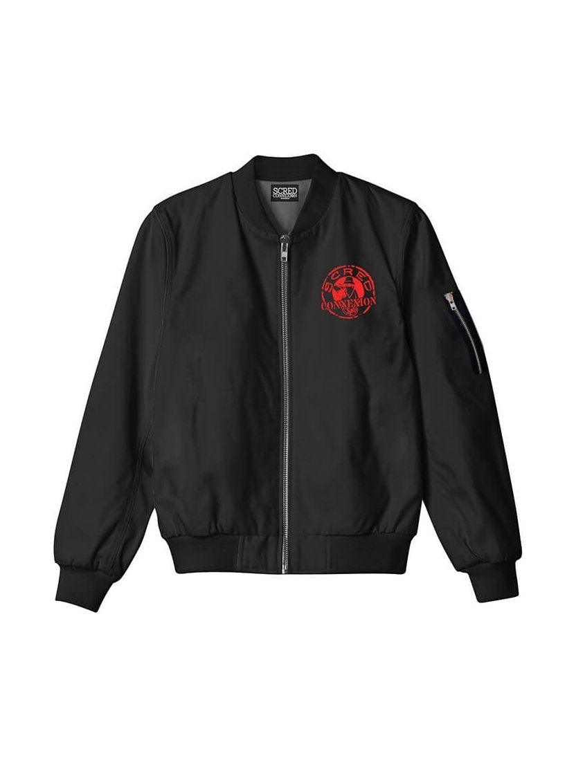 Bombers noir Scred Connexion Classico logo Rouge
