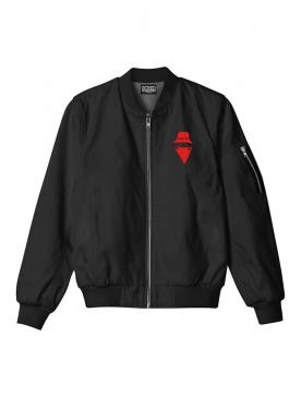 Bombers noir Scred Connexion Visage logo Rouge