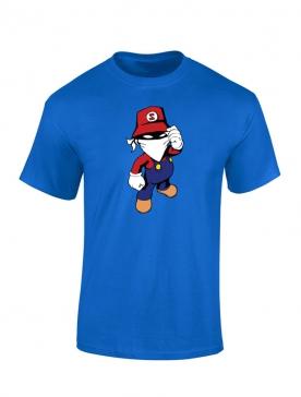 T Shirt bleu enfant Mario