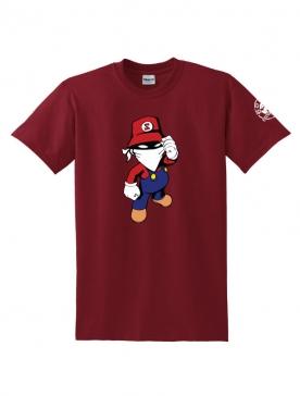 Tee Shirt Mario Bordeaux