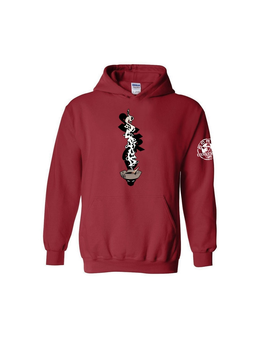 Sweat Capuche Cendar Bordeaux