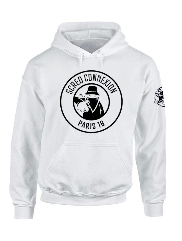 Sweat Capuche Classico 18 Blanc