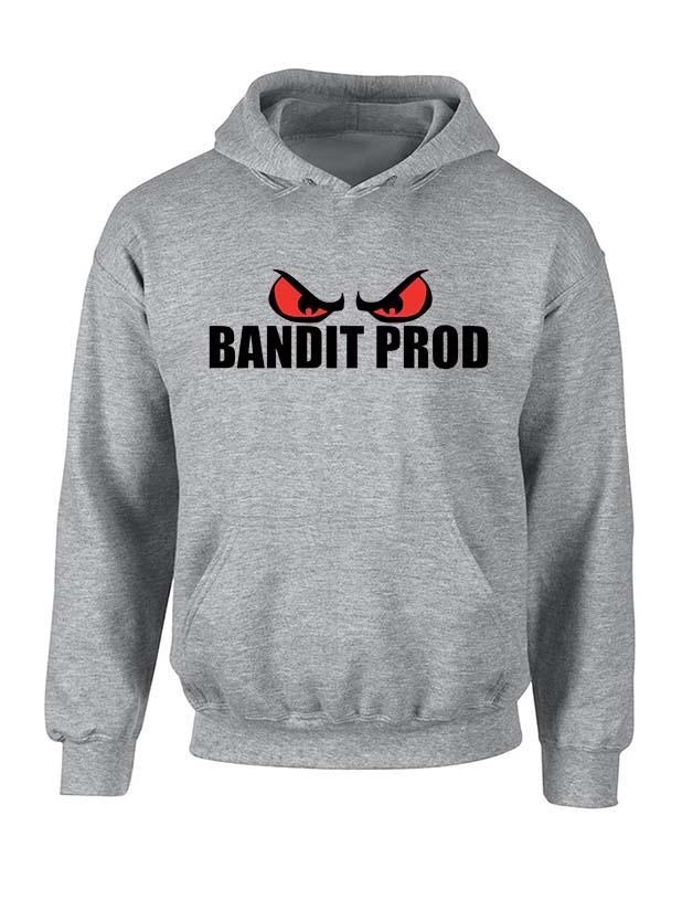 Sweat capuche gris Bandit Prod