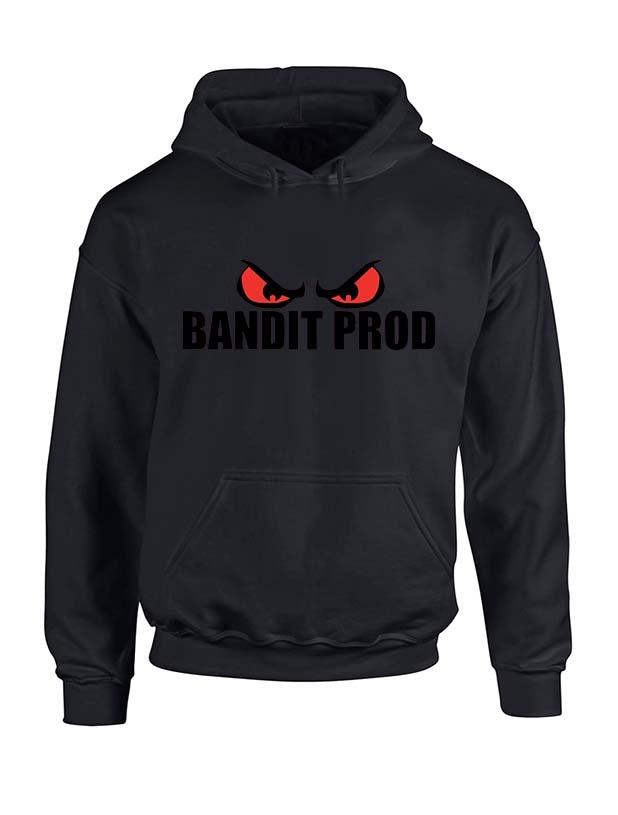 Sweat capuche noir Bandit Prod