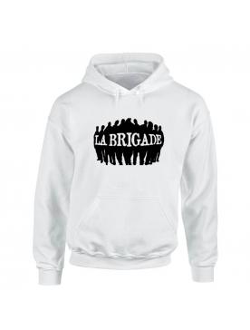Sweat capuche Blanc La Brigade