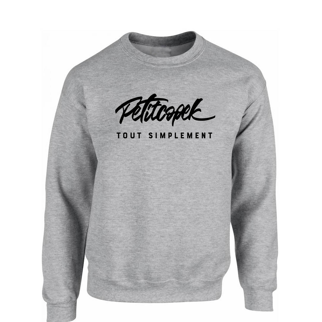 Sweat gris Petitcopek