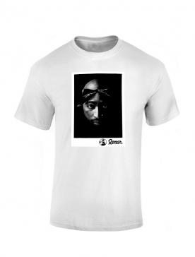 T shirt Renar Tupac Blanc