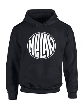 Sweat Capuche Melan Noir