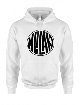 Sweat Capuche Melan Blanc