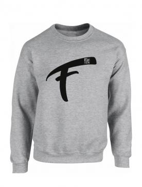 Sweat Fhat.R gris logo F