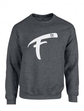 Sweat Fhat.R gris foncé logo F