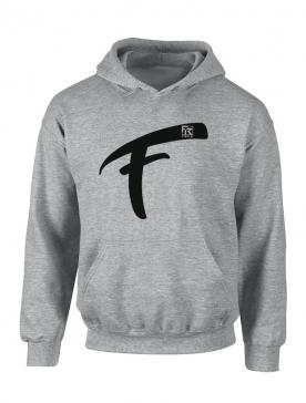 Sweat Capuche Fhat.R gris logo F