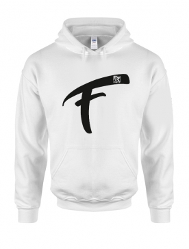 Sweat Capuche Fhat.R blanc logo F