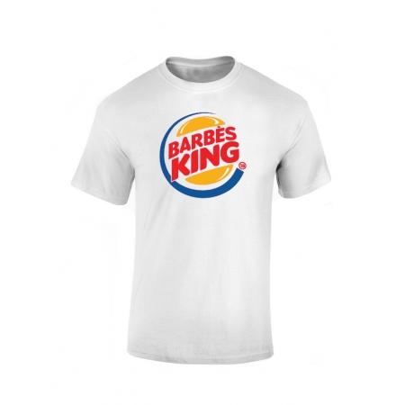 T-shirt Blanc Barbes King
