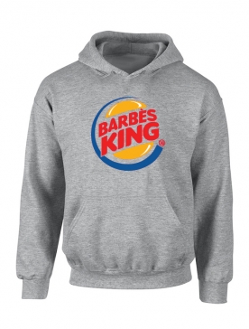 Sweat Capuche Gris Barbes King