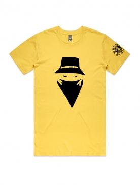 """T-Shirt """"Visage"""" Jaune et noir"""