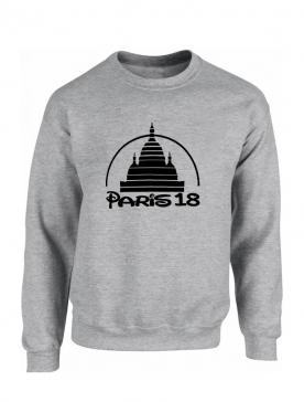 Sweat Paris 18 gris