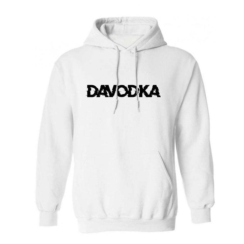 sweat Davodka capuche Blanc