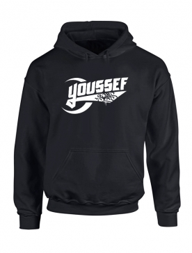 Sweat Capuche Youssef Swatts noir