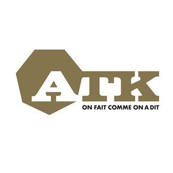 "tee-shirt ""ATK"" noir logo blanc"