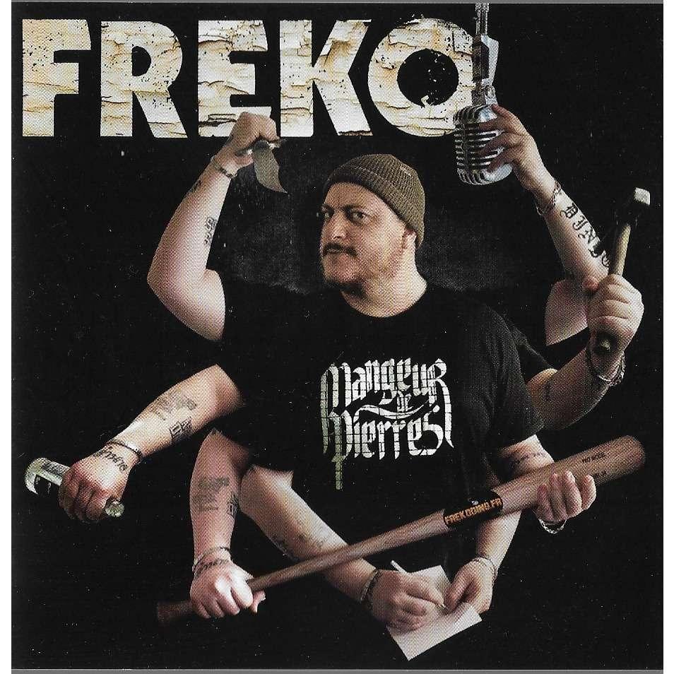 sweat capuche Freko Mangeur Gris