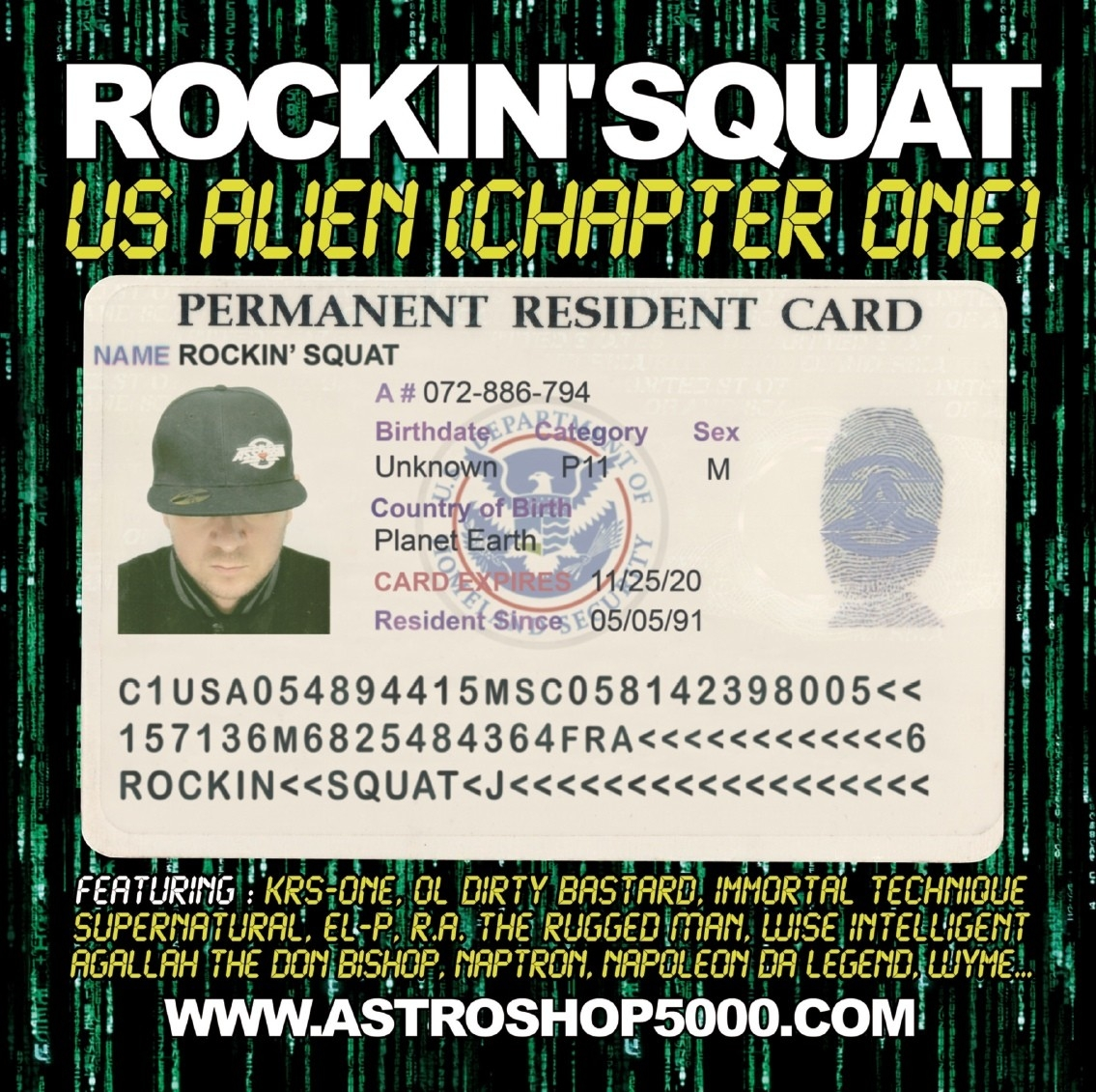 Album vinyl rocking squat - us alien - chapter one