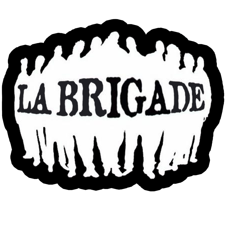 Sweat capuche noir La Brigade