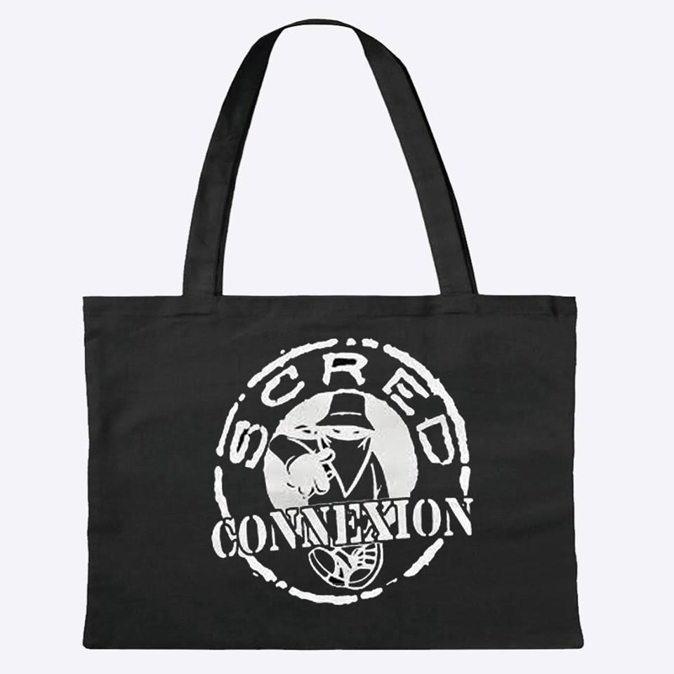 sac en toile noir SCRED CONNEXION classico