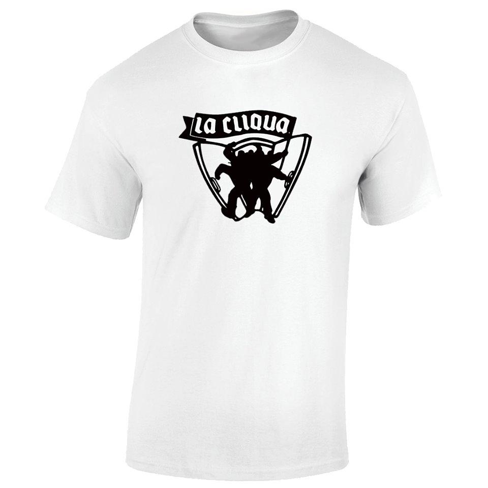 """T-Shirt la cliqua """" kick the doors"""" blanc logo noir"""